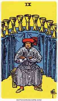 Nine of cups Tarot Card Meanings for Minor Arcana