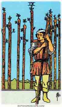 Nine of wands Tarot Card Meanings for Minor Arcana
