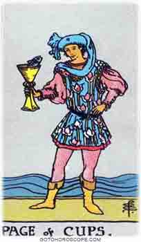 Page of cups Tarot Card Meanings for Minor Arcana