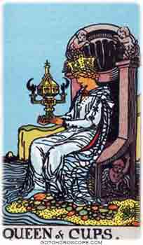 Queen of cups Tarot Card Meanings for Minor Arcana