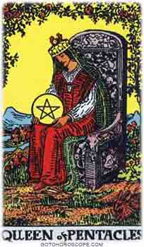 Queen of pentacles Tarot Card Meanings for Minor Arcana