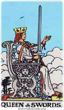 Queen of swords Tarot Card Meanings for Minor Arcana