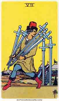 Seven of swords Tarot Card Meanings for Minor Arcana