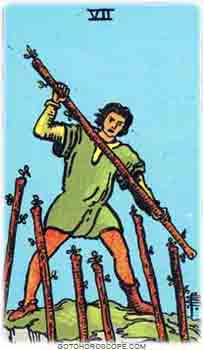 Seven of wands Tarot Card Meanings for Minor Arcana