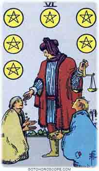 Six of pentacles Tarot Card Meanings for Minor Arcana