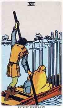 Six of swords Tarot Card Meanings for Minor Arcana