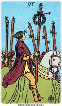 Six of wands Upright Tarot Card Meanings