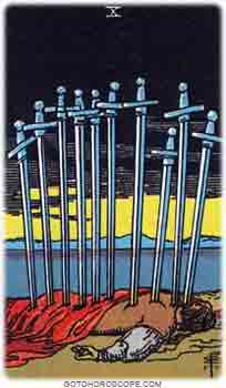 Ten of swords Tarot Card Meanings for Minor Arcana