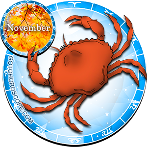 Monthly November 2012 Horoscope for Cancer