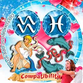 Aquarius and Pisces Compatibility in Love