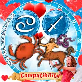 Cancer and Sagittarius Compatibility in Love