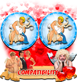 Love Compatibility Horoscope for Combination of Aquarius and Aquarius Zodiac signs