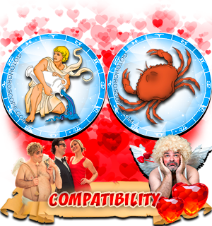 Love Compatibility Horoscope for Combination of Aquarius and Cancer Zodiac signs