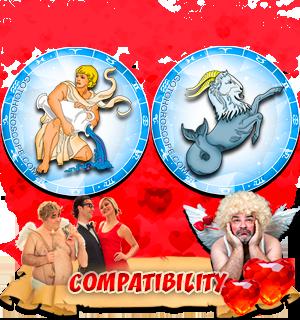 Love Compatibility Horoscope for Combination of Aquarius and Capricorn Zodiac signs