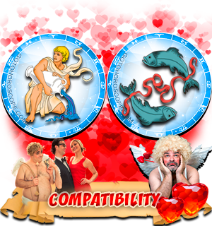 Love Compatibility Horoscope for Combination of Aquarius and Pisces Zodiac signs