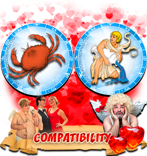 Love Compatibility Horoscope for Combination of Cancer and Aquarius Zodiac signs