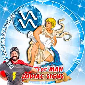 Aquarius Man zodiac sign's characteristics image