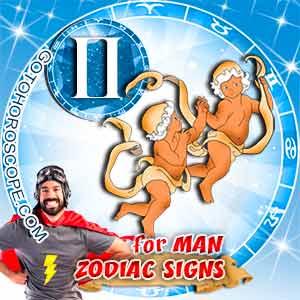 Gemini Man zodiac sign's characteristics image
