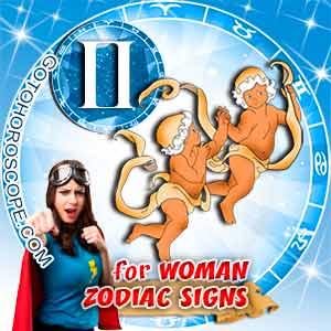 Gemini Woman zodiac sign's characteristics image