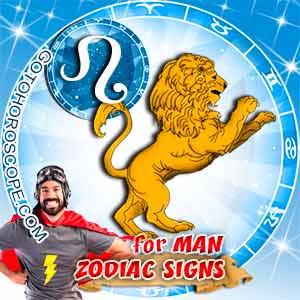 Leo Man zodiac sign's characteristics image