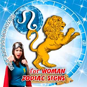 Leo Woman zodiac sign's characteristics image