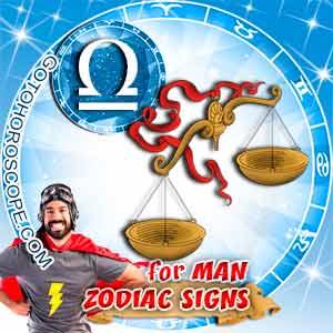 Libra Man zodiac sign's characteristics image