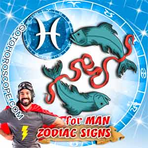 Pisces Man zodiac sign's characteristics image