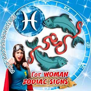 Pisces Woman zodiac sign's characteristics image