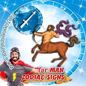 Sagittarius Man zodiac sign's characteristics image