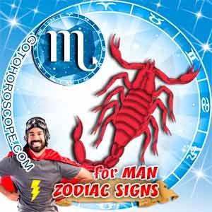 Scorpio Man zodiac sign's characteristics image