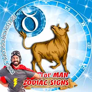 Taurus Man zodiac sign's characteristics image