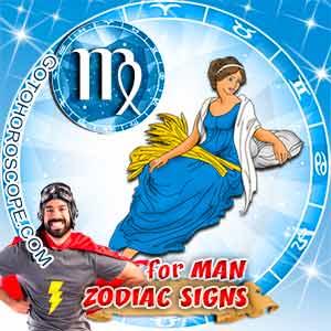 Virgo Man zodiac sign's characteristics image